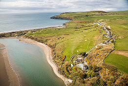 Bryn Bed and Breakfast - aerial view of estuary between Nevern and Newport